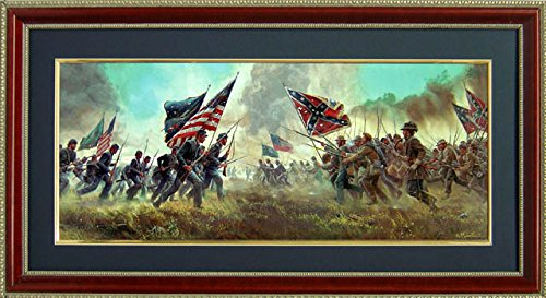 """Battle of Gettysburg """"With a Rebel Yell"""" By Mort Kunstler Poster"""