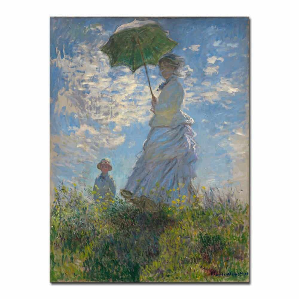 Wieco Art Woman with a Parasol Madame Monet and Her Son