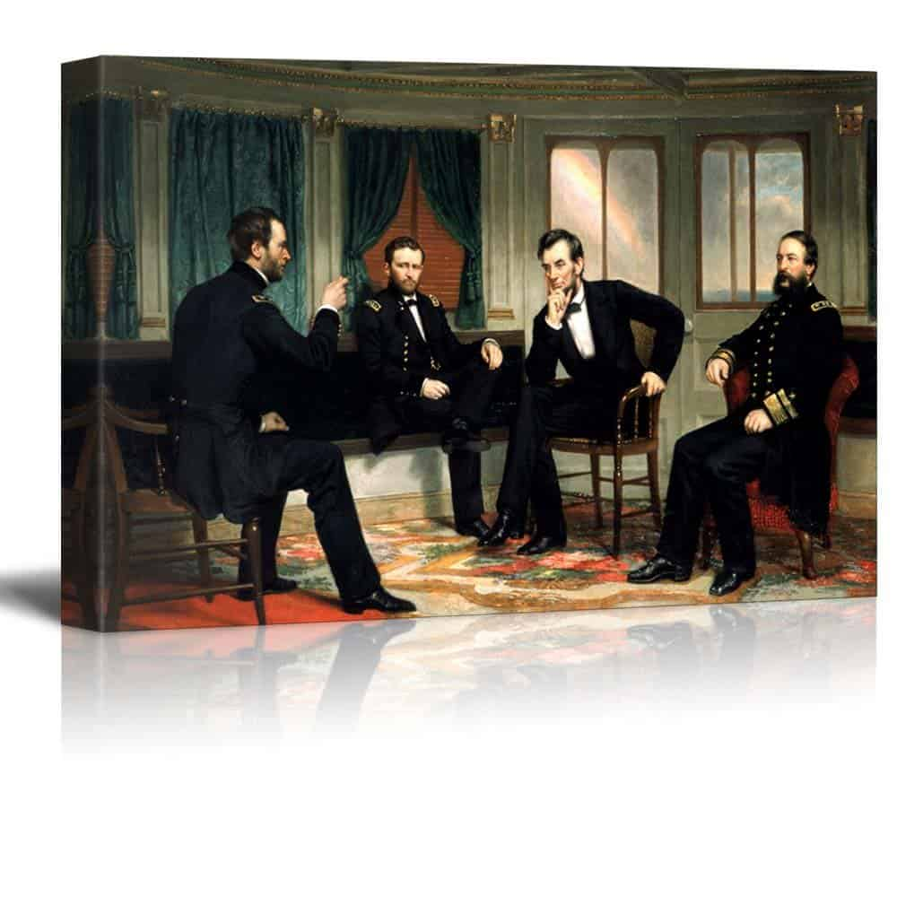The Peacemakers (Abraham Lincoln at Civil War Time) by George Peter Alexander Healy
