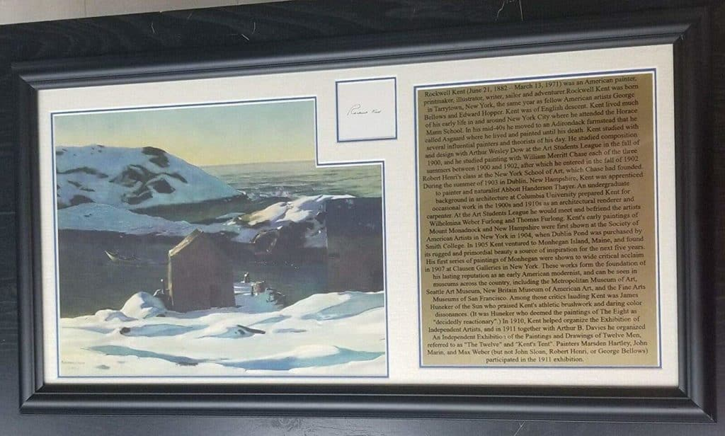 """Moby Dick"" Artist Rockwell Kent Hand Signed Cut Display Todd Mueller COA"