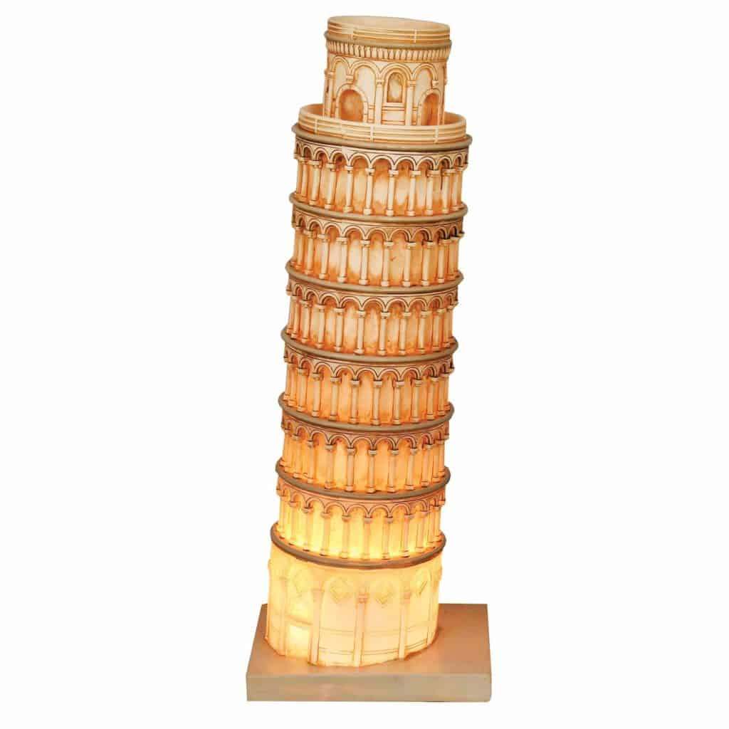Great Places Leaning Tower of Pisa Table Lamp by What On Earth