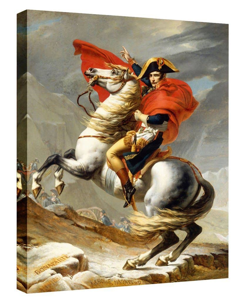 Eliteart- Napoleon Crossing the Alps By Jacques-Louis David Oil Painting