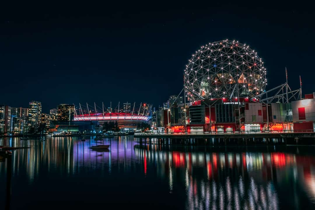 Science World over a body of water